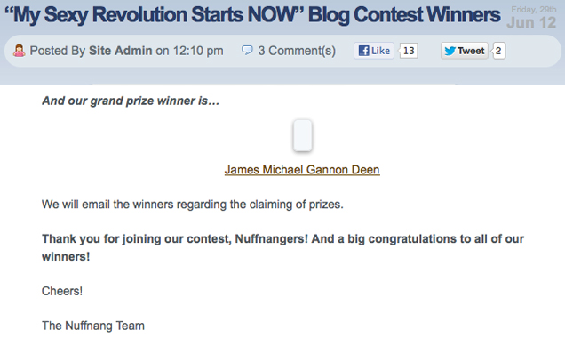 Praise God! I won the Sexy Solutions contest!