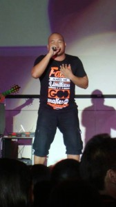 Filipino recording artist Quest performs in a Worship Generation tee