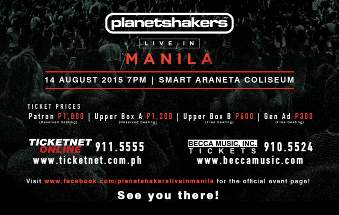 Planetshakers Live in Manila this August 2015