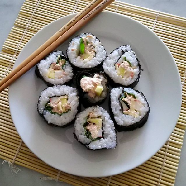 Kid-friendly tuna salad sushi