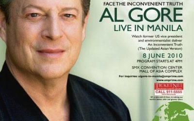 We cannot miss Al Gore in Manila
