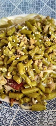 Sauteed Pickled Beans and Pork Mince Dry Noodle